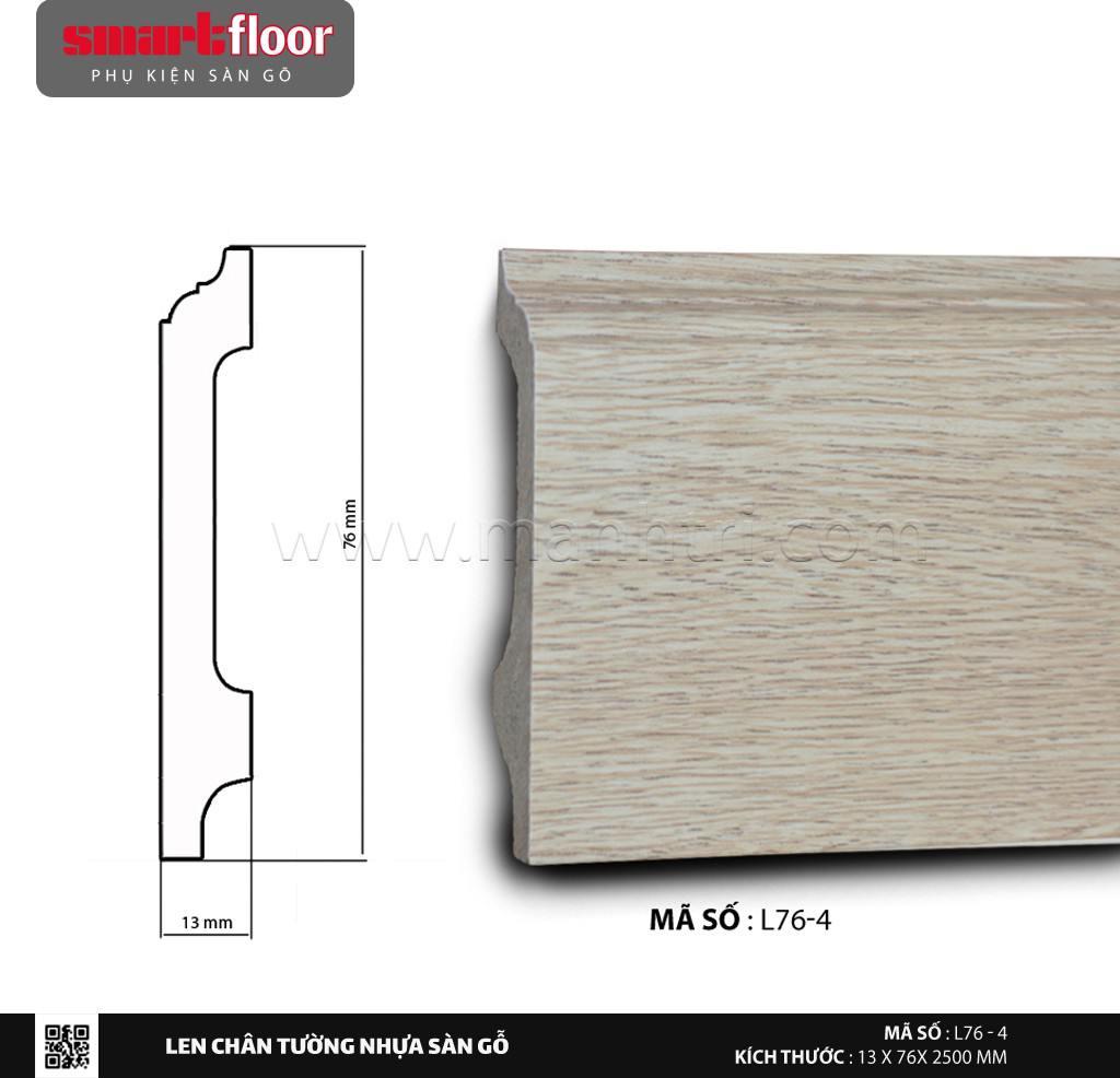 Len chân tường nhựa giả gỗ L76-4