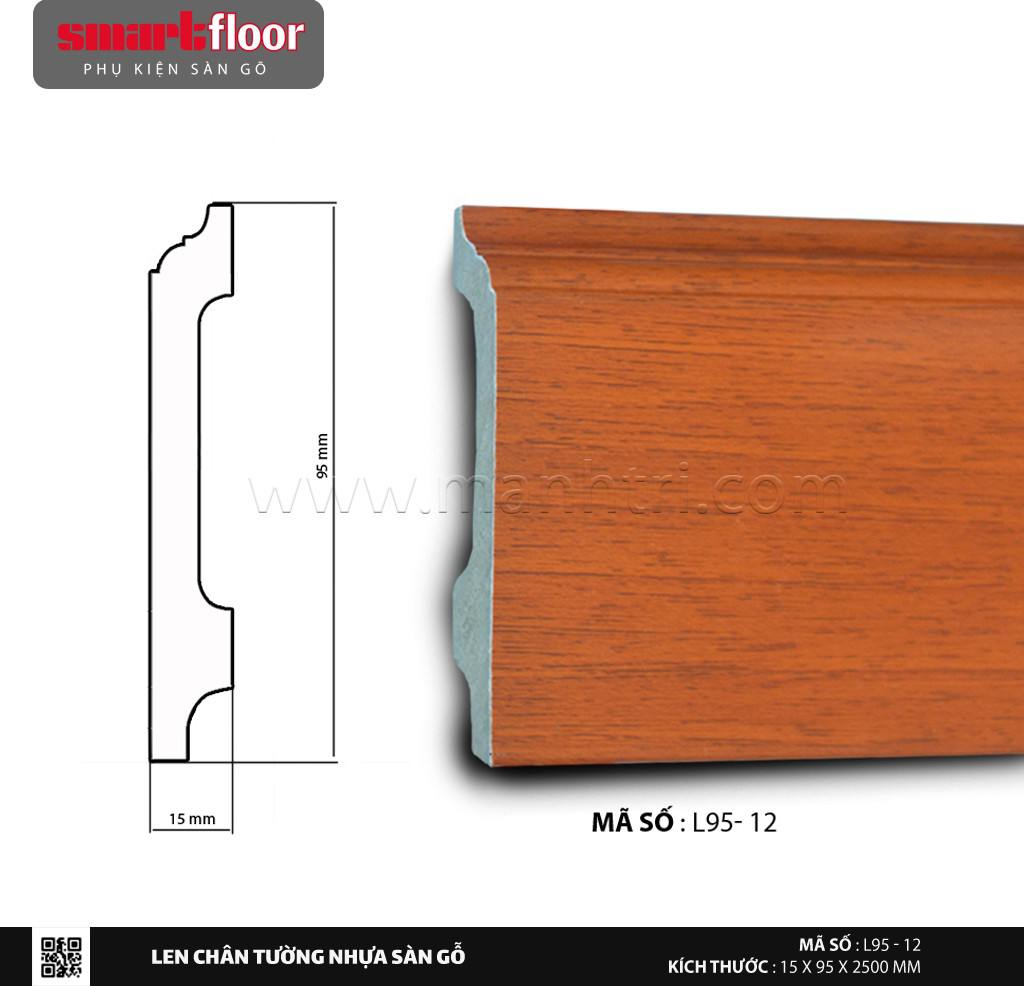 Len chân tường nhựa sàn gỗ L95-12
