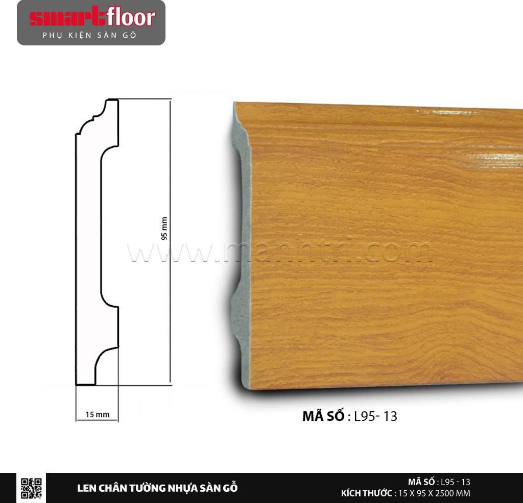Len chân tường nhựa sàn gỗ L95-13