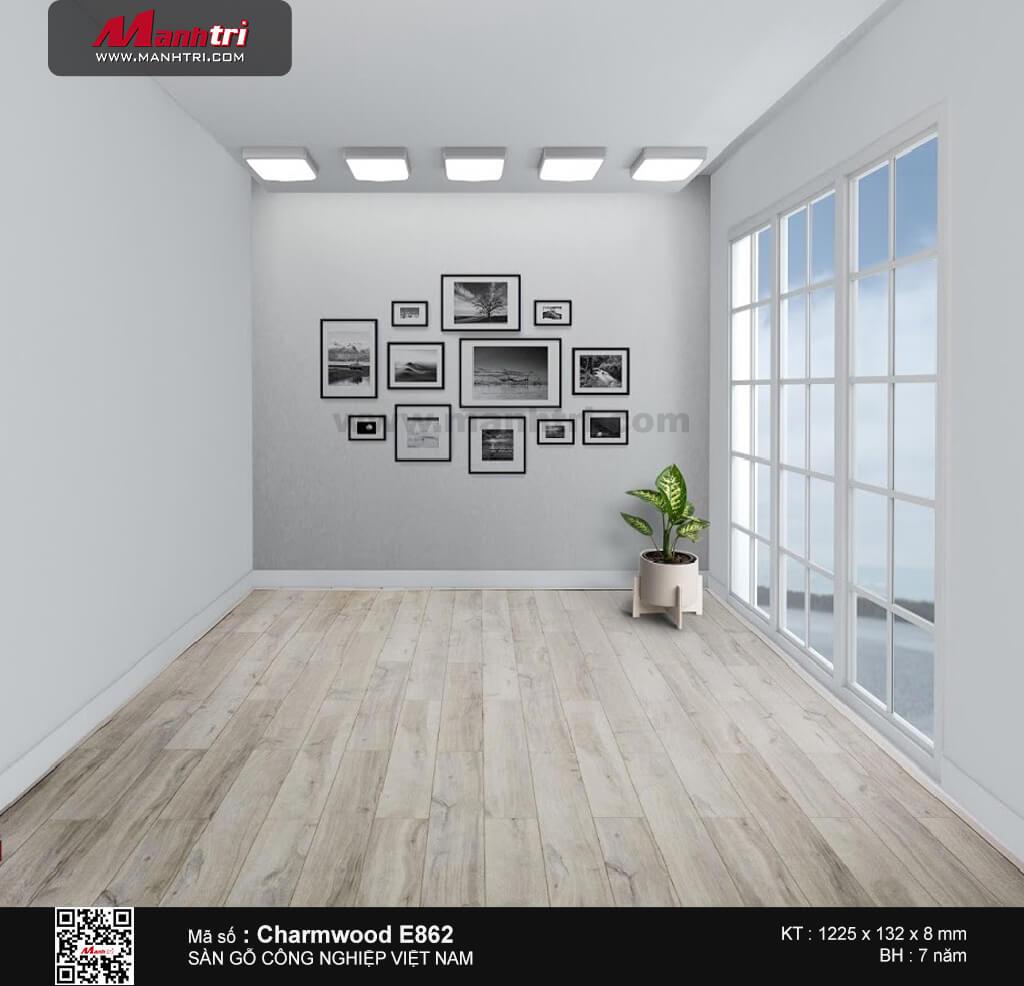 Sàn gỗ công nghiệp Charm Wood E862
