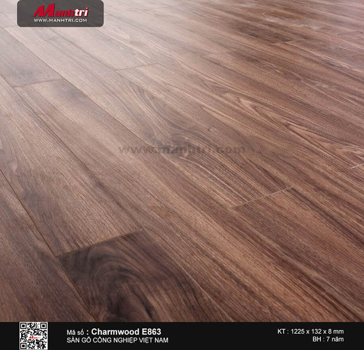 Sàn gỗ công nghiệp Charm Wood E863
