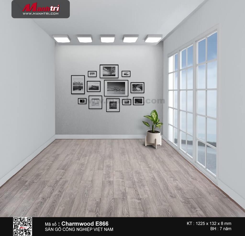Sàn gỗ công nghiệp Charm Wood E866