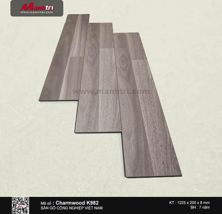 Sàn gỗ công nghiệp Charm Wood K982