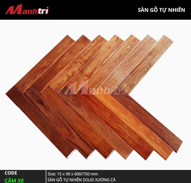 Sàn gỗ Căm Xe Solid Xương Cá