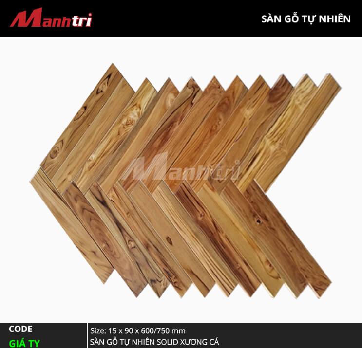 Sàn gỗ Giá Tỵ Solid Xương Cá