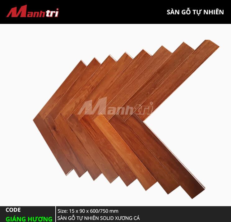 Sàn gỗ Giáng Hương Solid Xương Cá