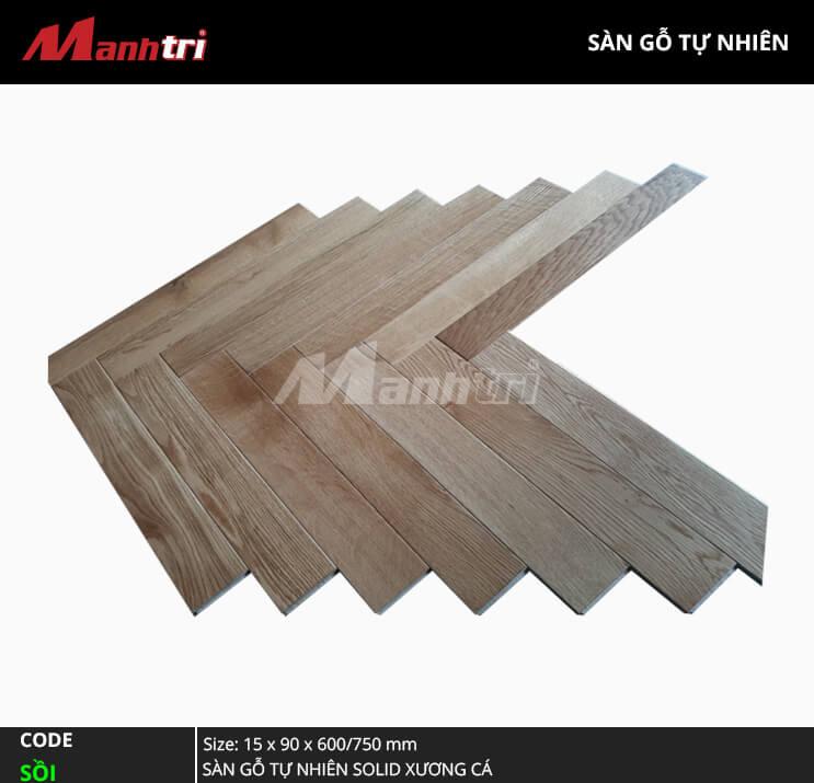 Sàn gỗ Sồi Solid Xương Cá