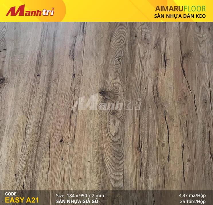 Sàn nhựa giả gỗ Aimaru EASY A21