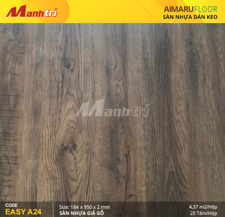 Sàn nhựa giả gỗ Aimaru EASY A24