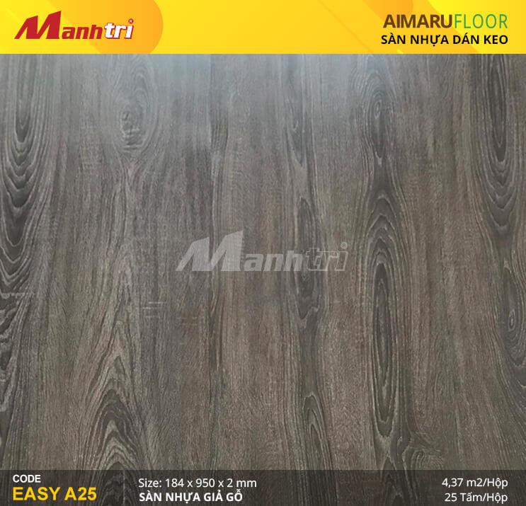 Sàn nhựa giả gỗ Aimaru EASY A25