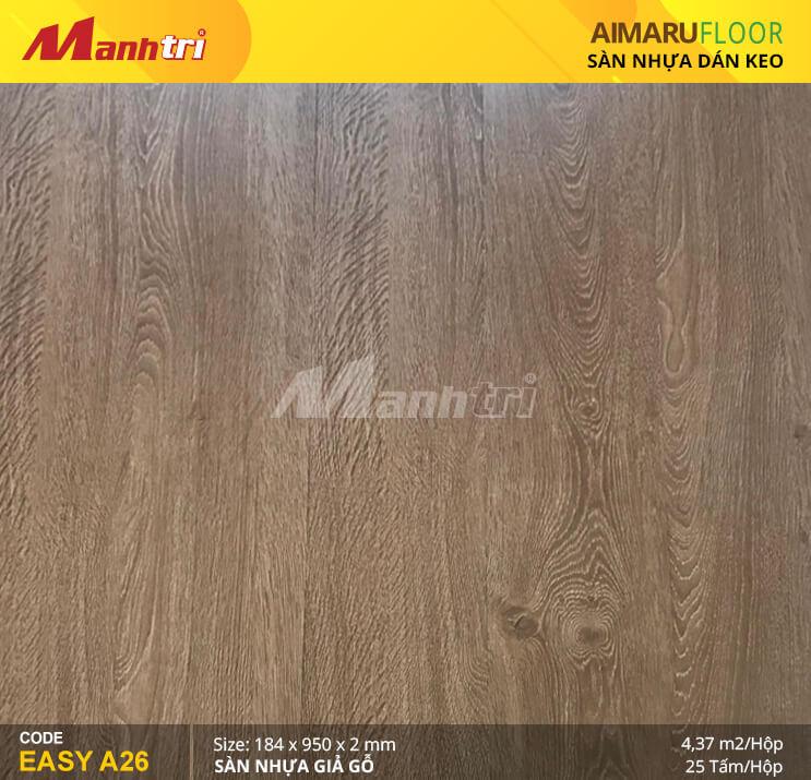 Sàn nhựa giả gỗ Aimaru EASY A26