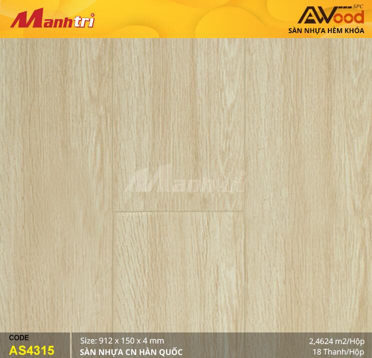 Sàn nhựa Awood SPC AS4315