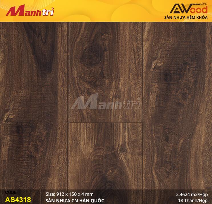 Sàn nhựa Awood SPC AS4318