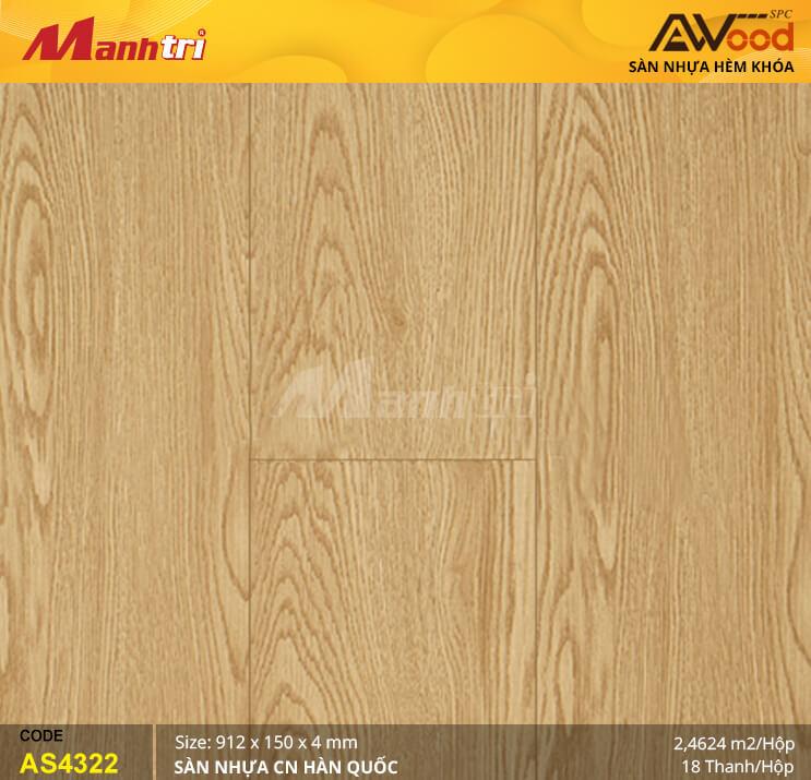Sàn nhựa Awood SPC AS4322