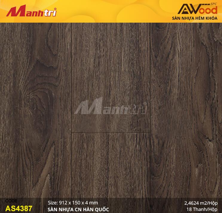 Sàn nhựa Awood SPC AS4387