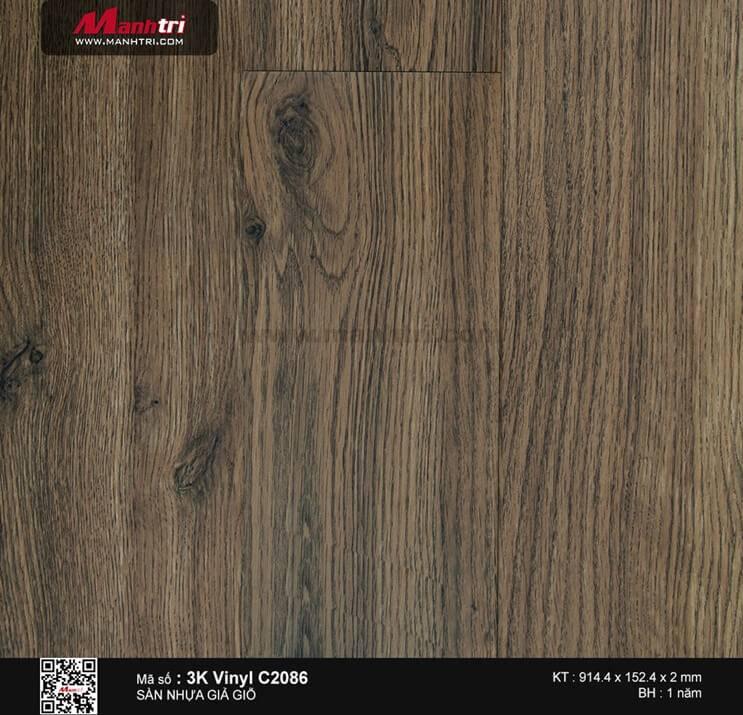 Sàn nhựa giả gỗ 3K Vinyl C2086