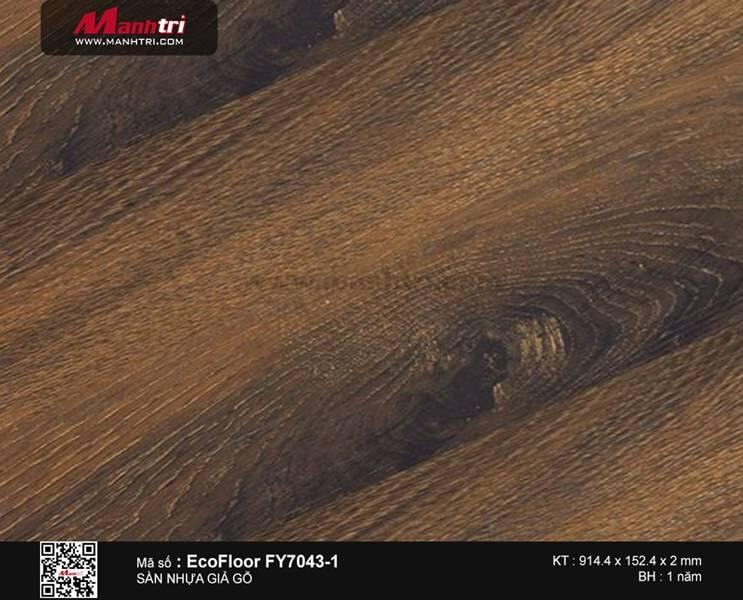 Sàn nhựa giả gỗ Ecofloor FY7043-1