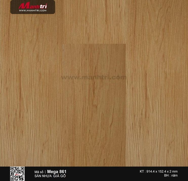 Sàn nhựa giả gỗ Mega 861