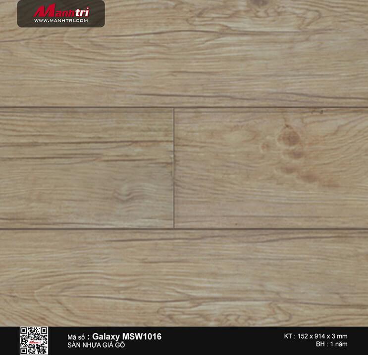 Sàn nhựa giả gỗ Vinyl Galaxy MSW 1016
