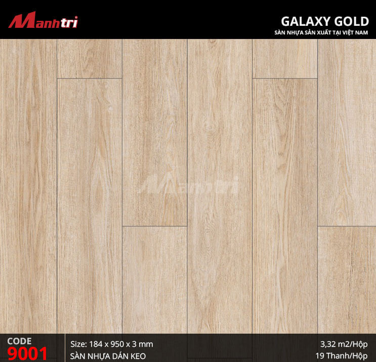 Sàn nhựa giả gỗ Galaxy Gold 9001