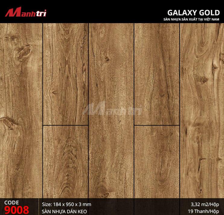 Sàn nhựa giả gỗ Galaxy Gold 9008