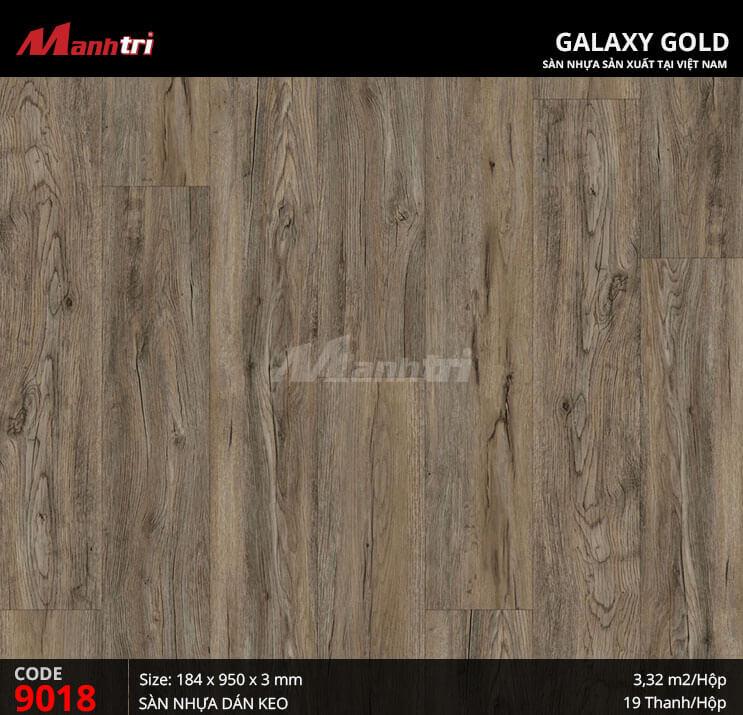Sàn nhựa giả gỗ Galaxy Gold 9018