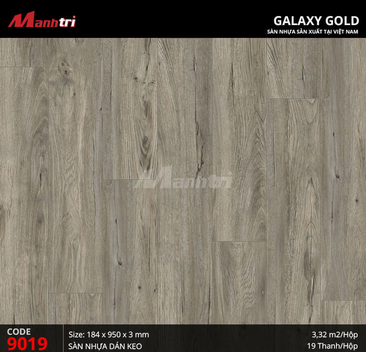 Sàn nhựa giả gỗ Galaxy Gold 9019