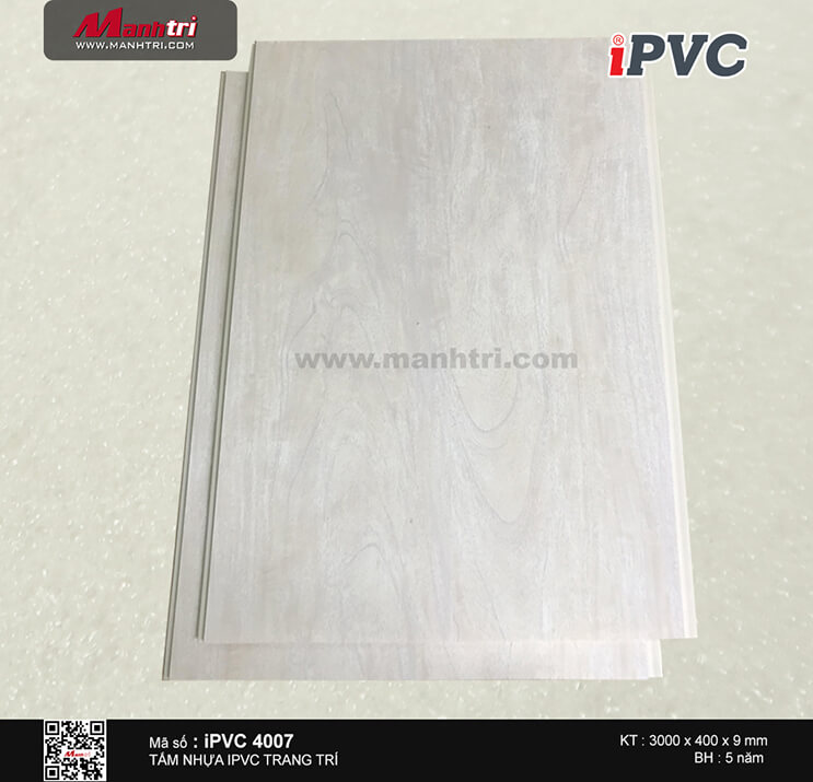 Tấm nhựa iPVC vân gỗ 4007