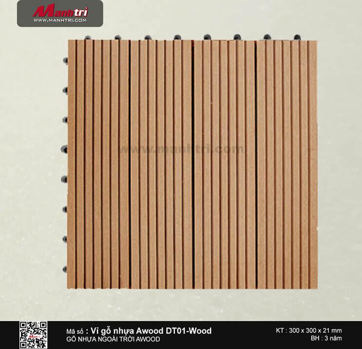 Vỉ nhựa Awood DT01-Wood