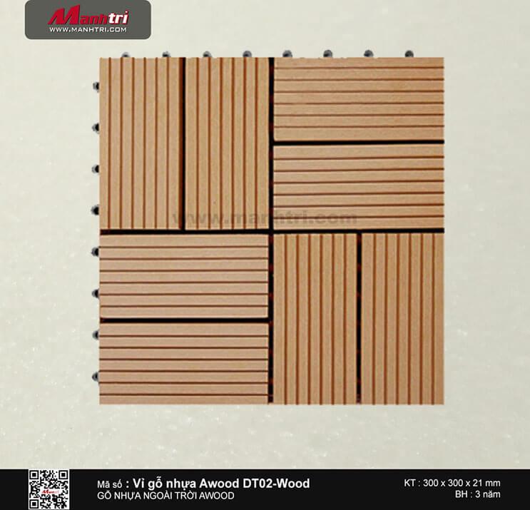 Vỉ nhựa Awood DT02-Wood
