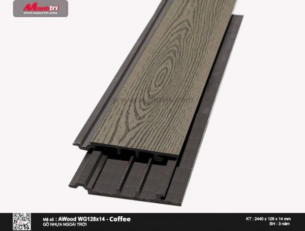 Ốp trần Awood WG128x14-Coffe