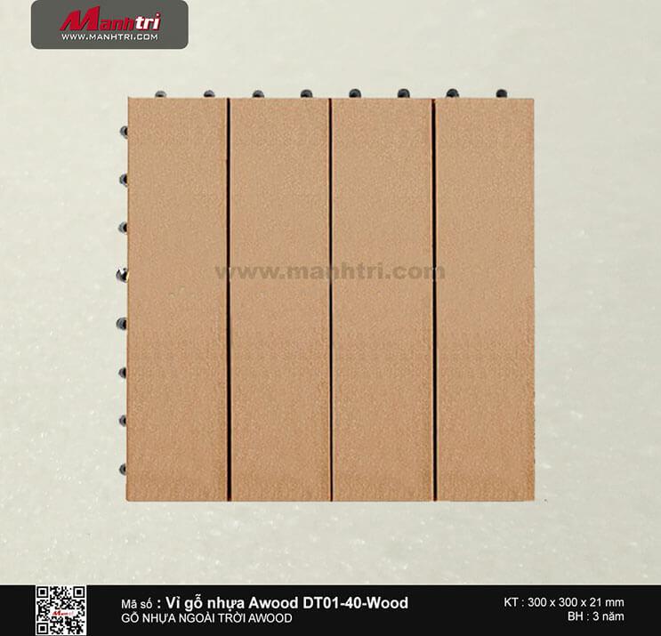 Vỉ nhựa Awood DT01-40-Wood