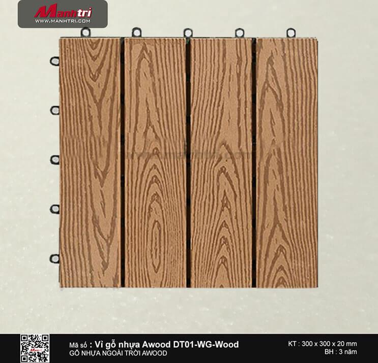 Vỉ nhựa Awood DT01-WG-Wood