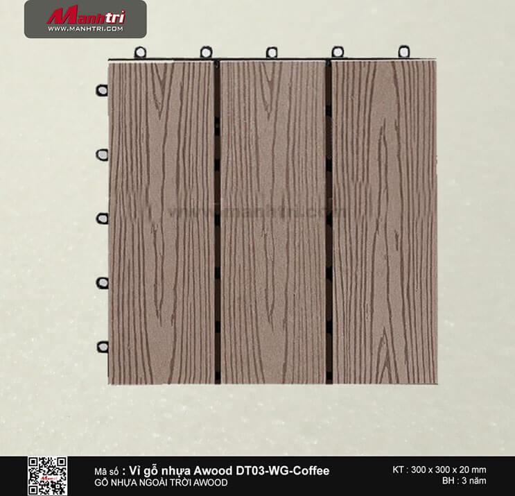 Vỉ nhựa Awood DT03-WG-Coffee