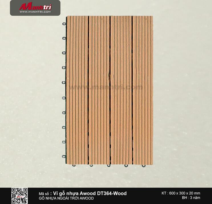 Vỉ nhựa Awood DT364-WG-Wood
