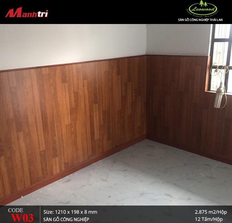 Thi công, lắp đặt sàn gỗ công nghiệp Leowood W03 tại Long Khánh, tỉnh Đồng Nai