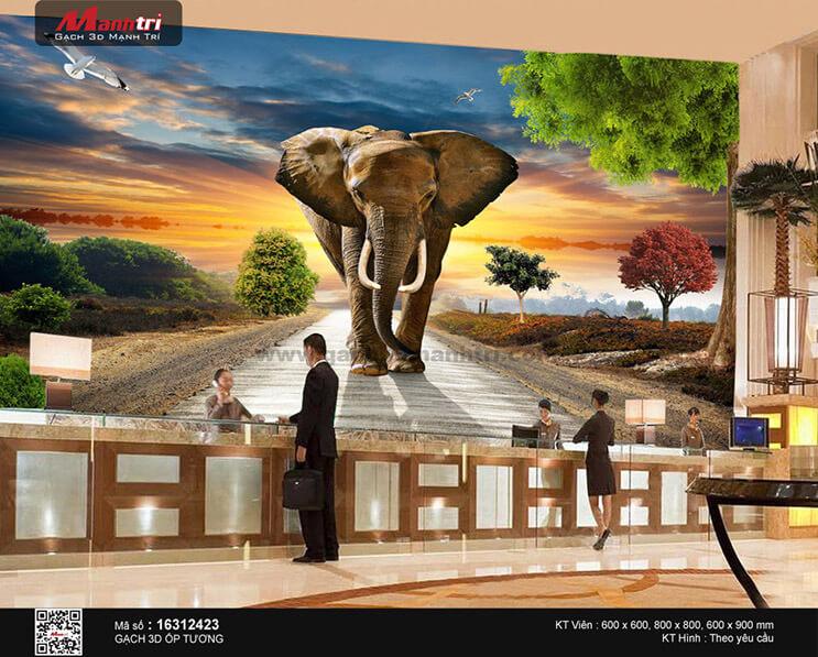 gach tranh 3d voi